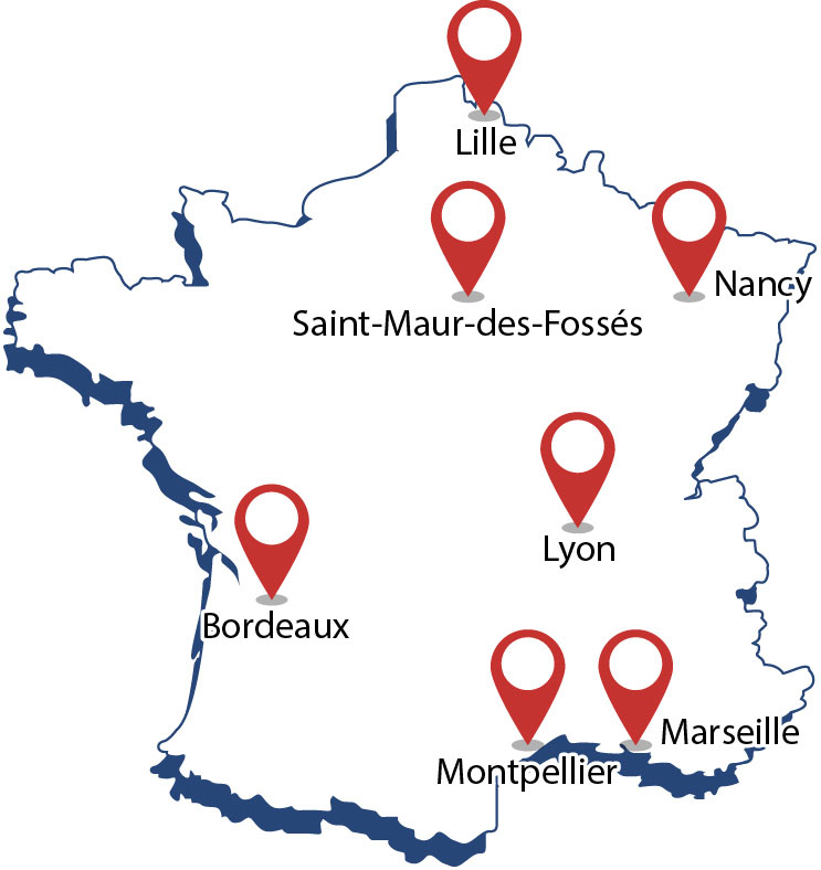 Implantations Sokatel sur Paris et toute la Françe
